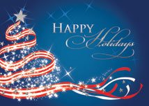 Patriotic Tree Christmas Cards